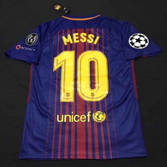 competitive price 01c66 0a8a2 FC Barcelona Jersey Messi #10 Champions League NWT